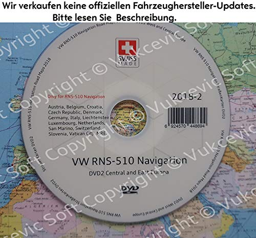 VW RNS 510 Road Maps Navigation DVD 2019 2019-2