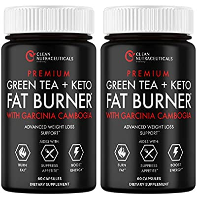 Green Tea Extract Supplement Keto Pills EGCG - Belly Fat Pills That Work - 1200mg Capsules - Slim Stomach & Abdominal - Natural & Keto Diet Friendly Supplement for Men & Women - 120 Veggie Capsules