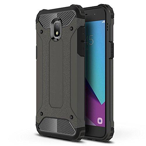 HICASER Galaxy J3 2018 Custodia, Dual Layer Ibrida Rigida Morbido Armatura Resistente agli Urti Case Ibrida TPU +PC Bumper Frame Protettiva Custodia per Samsung Galaxy J3 2018 Rosolare