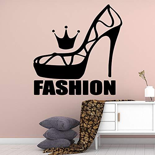 JXMN Estilo de Dibujos Animados Moda Zapato Pegatinas de Pared extraíble decoración autoadhesiva Sala de Estar Dormitorio extraíble Tatuajes de Pared 60x60 cm