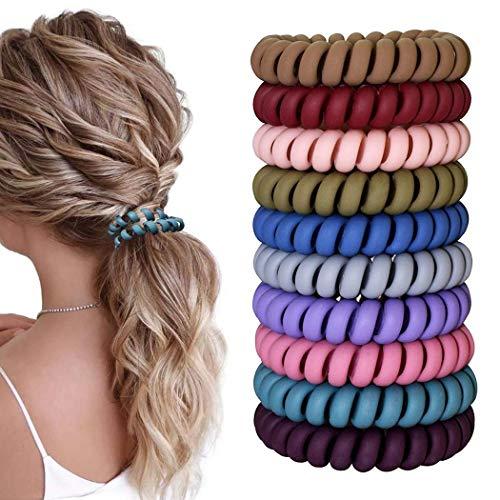 20 Stück Spiral Haargummis Telefonkabel Zopfgummi Telefonkabel Haarband Haargummi Haarring-Keine Falte Elastische Haargummis Fitness Haarband für Frauen und Mädchen Haarschmuck