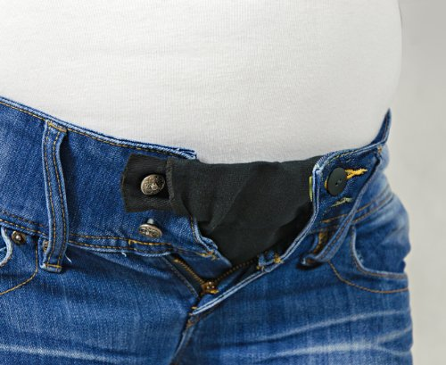 Be Mama - Maternity & Baby wear Hosenerweiterung für Schwangere, 3-teiliges Set: 4-stufig verstellbar (Erweiterung von ca. 2 bis 18 cm möglich) - Jeansblau
