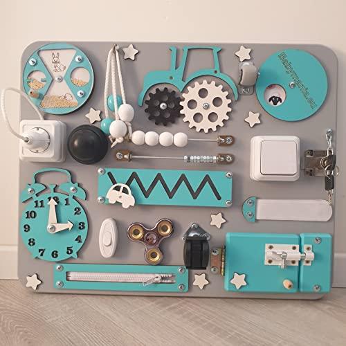 Pannello Sensoriale Montessori Babymania Busy Board - Tavola attività (Bambino)