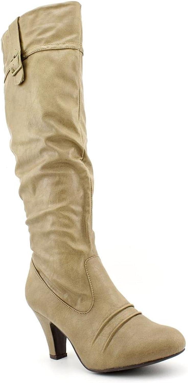 Rampage Womens Estafania Fashion Knee-high Boots Camel 6.5 M Us