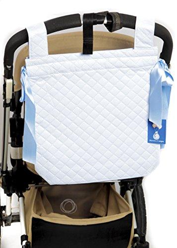 Danielstore- Bolso Talega Panera Plastificada para Carrito bebe- capazo bebe. Color celeste