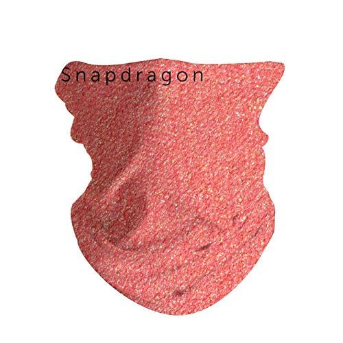 HaoZi, Outdoor-Kopfbedeckung, für den täglichen Gebrauch, 16 Tragemöglichkeiten, Kopfband, Halstuch, Halstuch, Helmeinlage, Sturmhaube, Gesichtsmaske, Kopfband, Schimmerndes Rouge, 50 cm x 25 cm