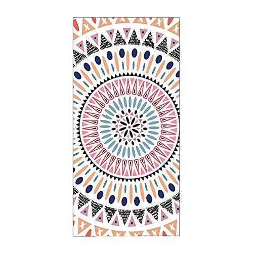 Stillshine. Grande Niño Toalla de Playa Poliéster XL XXL,Secado Rápido Absorción de Agua Toalla de Baño,Vistoso Bohemia Mandala Pluma Campanas de Viento Toalla Niña Adulto (Color 1,150 × 180 cm)