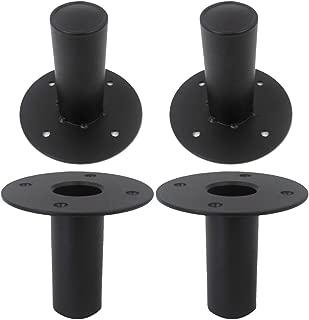 Seismic Audio - Metal-Top-Hat-4Pack - 4 Pack of Internal Top Hat Metal Speaker Pole Mounts for PA Speakers DJ Speakers