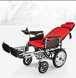 zdw Silla de ruedas La mejor silla de ruedas 2019 Nueva silla de ruedas eléctrica Plegable Ligera Servicio eléctrico Potencia eléctrica Motorizada Silla de ruedas Ancianos Discapacitados, Ligero, Int