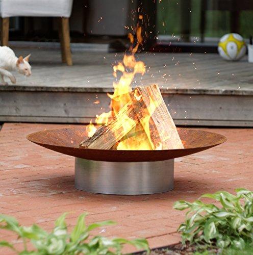 Fire Pit Hestia oxidación acero 58cm Diámetro jardín/patio calentador...