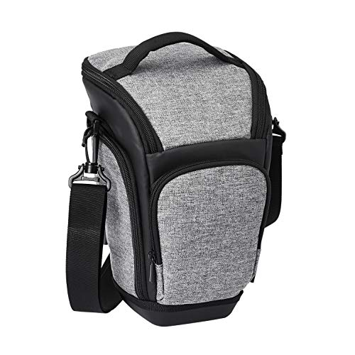 Amazon Basics Holster DSLR Camera Case, 7 x 11 x 6 Inches (Gray and Black)