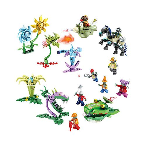 LZQ Plants VS Zombies 2 PVZ Exquisite Exquisite Building Toys Gifts for 6,7,8,9,10 Year Old Kids Parent-Child Interaction (Small-(8PCS))