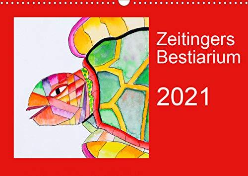 Zeitingers Bestiarium (Wandkalender 2021 DIN A3 quer)