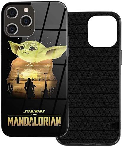 Baby Yo-da - Funda protectora a prueba de golpes para iPhone 12/12Mini / Pro/Pro Max, diseño elegante y de plástico TPU, protector de pantalla integrado para iPhone 12 Pro Max-6.7