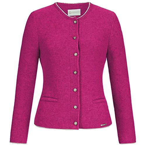 GIESSWEIN Strickjacke Nenita - taillierte Damenjacke aus Lammwolle, fein gestrickte Trachtenjacke für Frauen, passt zu Dirndl und Lederhose, Jacke fürs Oktoberfest