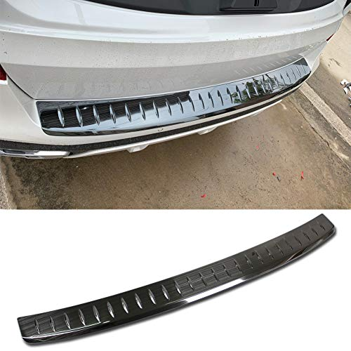 Beautost Fit for BMW 2019 2020 New X5 G05 Rear Bumper Sill Plate Guard Cover Trim Stainless Steel (Black)