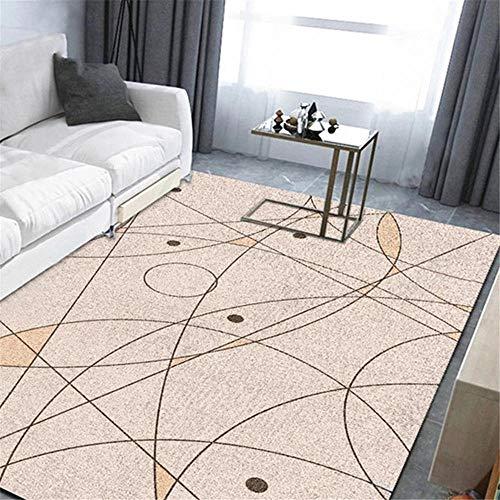 DJHWWD Children Rugs For Bedrooms Carpet pink thin line cartoon geometric pattern crystal velvet carpet anti-slip Outdoor Rugs For Patios Waterproof Kids Rugs For Bedrooms pink 80X160CM