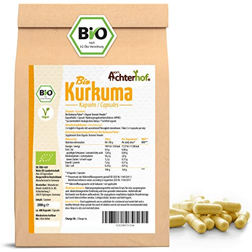 Kurkuma Kapseln Bio Nachfüllpack | 400 Stück |direkt vom Achterhof