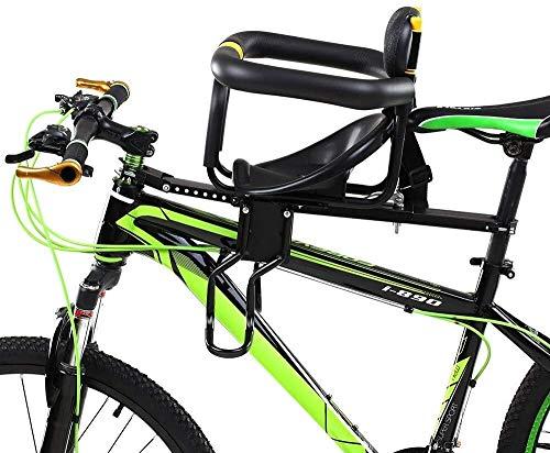 LCFF Sedile Posteriore per Bici Fronte Bambino Bike Sede Portatile seggiolino della Bicicletta Sedile Imbottito Cinghia for 2-6 Year Old Fino a 25 kg for Mountain Bike Biciclette ibride
