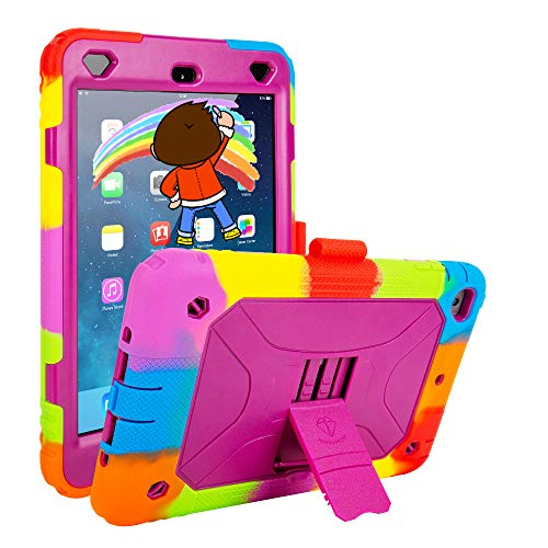 iPad Mini 4 Case iPad Mini 5 Case Shockproof Durable Sturdy Protective Cover Girly Women Kids iPad Mini 4 5 Case (Purple)