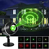 LESHP Projector Lights Laser Lights Moving Galaxy Show Spotlights Outdoor Decorations for Party, Holiday, Birthday, Stage Light (Red-Green)