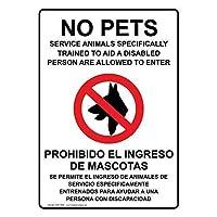 垂直エイダのペットサービス動物はバイリンガル記号金属標識通知記号を許可