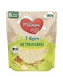 Milupa 7 Korn Bio Getreidebrei ab dem 6. Monat, 4er Pack (4 x 180 g) 146410