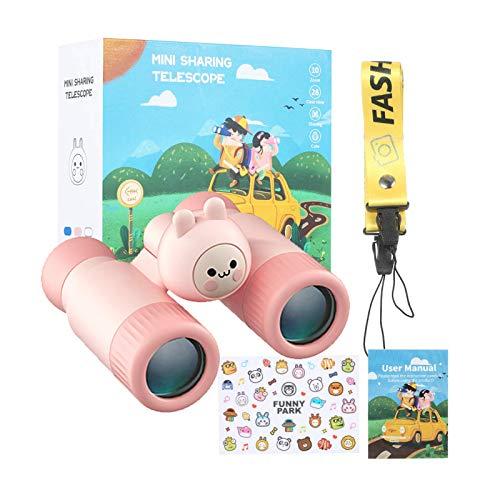 Fernglas 10 × 28 HD KKmoon Kinder Monokular Wasserdicht Kinderteleskop Geschenk für Jungen Mädchen Spielzeugteleskop mit Umhängeband Silikonmaterial Abnehmbar Kinderfernglas