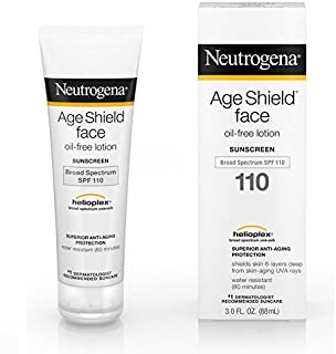 【海外直送品】Neutrogena Age Shield? Face Oil-Free Lotion Sunscreen Broad Spectrum SPF 110 - 3 FL OZ(88ml)