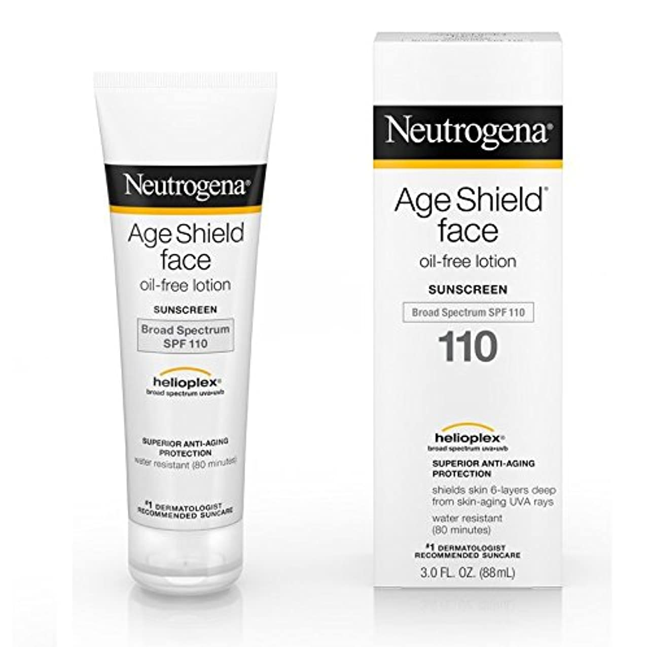 承認疎外する小康【海外直送品】Neutrogena Age Shield? Face Oil-Free Lotion Sunscreen Broad Spectrum SPF 110 - 3 FL OZ(88ml)