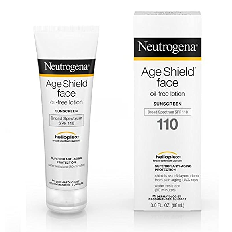 バタフライ軌道好む【海外直送品】Neutrogena Age Shield? Face Oil-Free Lotion Sunscreen Broad Spectrum SPF 110 - 3 FL OZ(88ml)