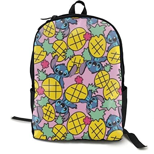 Lilo Stitch - Zaino casual leggero per computer portatile, per bambini, giovani, impermeabile, per scuola, viaggi, attività all'aperto