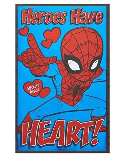 American Greetings Valentine's Day Card for Kids with Stickers (Spider-Man)