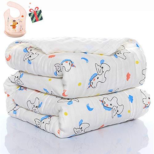 Swaddle Deken Baby voor Jongens of Meisjes Pasgeboren, Chickwin Flamingo Print Zacht Puur Katoen Vierkante Muslins Doeken Peuter Unisex Slapen Deken voor Kinderbedje 110x110cm Paard