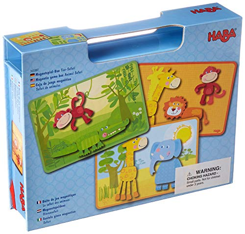 Haba 303387 - Magnetspiel-Box Tier-Safari