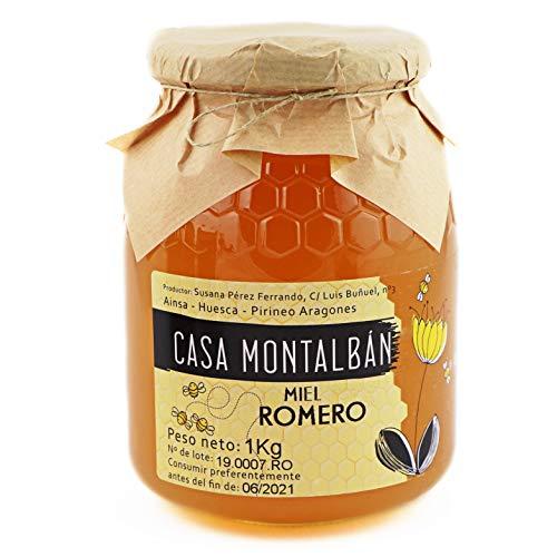 Miel de abeja pura Romero Hecha en España 100{311bef2ad6c80436db834e425c0cb1ffbab0f70ca8c1179f34a6f7c8fc60a3b4} Natural, Miel cruda sin calentar sin aditivos directo de Apicultor- 1 Kg