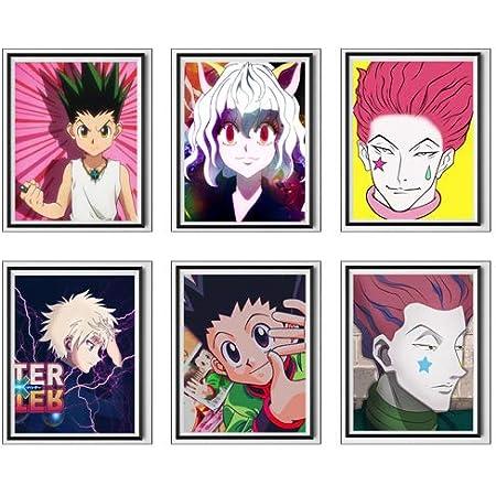 Amazon Com Japanese Anime Fan Art Gallery Hunter X Hunter Neferpitou Hisoka Gon Killua Fabric Art Prints Poster For Home Decoration 8 X 10 Inches No Frame Set Of 6 Furniture Decor