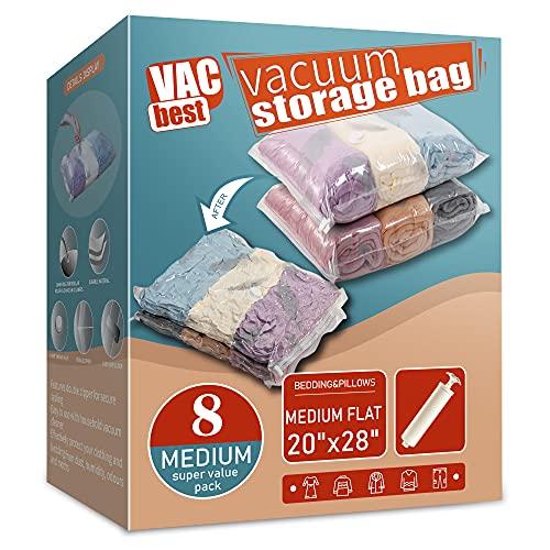 VacBest Vacuum Storage Space Saver Bags (8 Medium)...