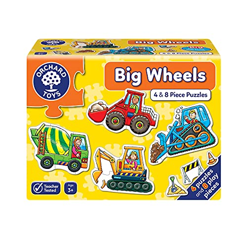 Orchard_Toys - Puzle infantil, diseño de vehículos de cons