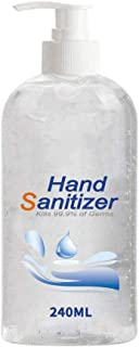 Hand Sanitizer Soothing Gel for Household, The Workplace. Rinse free, Alcohol-free, Aloe & Vitamin E Moisturizing Formula,Kills 99.9% of Germs for Adults & Kids with 24-Hour Protection 240ML