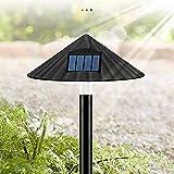 NLRHH Llevó la lámpara Solar del césped Impermeable al Aire Libre luz de la Seta de Control for Casa de Campo Jardín Paisaje de la decoración de Tierra del Enchufe de la lámpara Solar Peng