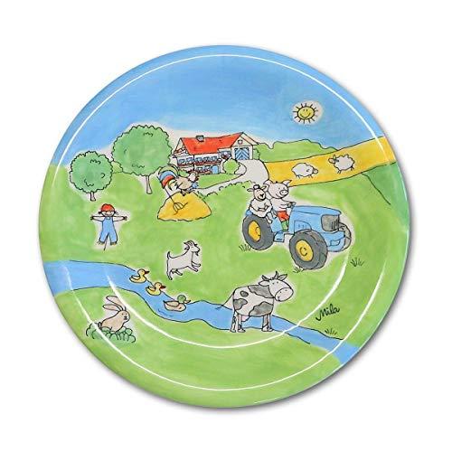 440s.de Mila Keramik-Teller, Bauernhof   MI-84181   4045303841819