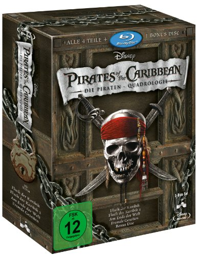 Pirates of the Caribbean 1-4 Collection - Die Piraten-Quadrologie [Alemania] [Blu-ray]