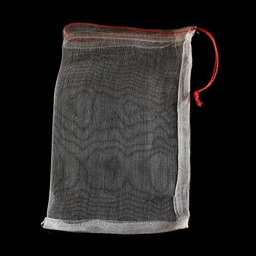 Ganquer 40 Bolsas de Malla para Insectos de pájaros, protección de jardín, Bolsa de Red con cordón para Plantas y Frutas, 30 cm x 20 cm (15 cm x 10 cm), Show, 35cm by 25cm