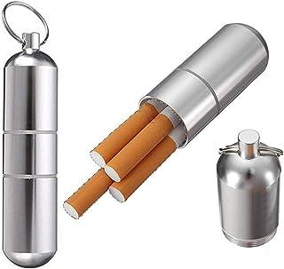 Sigaretta Cassa(2 pezzi) in Metallo All'aperto A Prova di umidità E Resistente alla Pressione Portatile di Sigarette Uomo ...