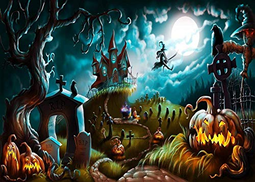YDPTYANG Puzzle 1000 Stück Cartoon Halloween Hexe Kürbis Hölzernes Erwachsene Kinder Puzzle Spiels Spielzeug Puzzles