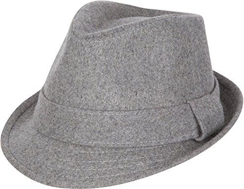 Sakkas F1218 Cappello Fedora Hat Strutturato Unisex Originale - Carbone - S/M
