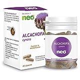 NEO | Extracto de Hojas de Alcachofa 200 mg | 45 Cápsulas Naturales | Ayuda a Mejorar las Molestias Digestivas | Libre de Alérgenos y GMO | Tomar de 1 a 2 Cápsulas a Día | Liberación Rápida