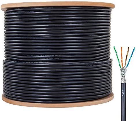 OUK BT Cat7 Bulk Ethernet Cable 660ft Outdoor CAT 7 Shielded Riser CMR Ethernet Bulk Cable Reel product image