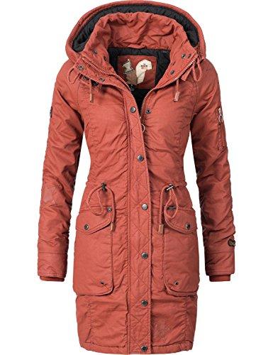 Khujo Mell giacca in cotone invernale da donna Rosso XS